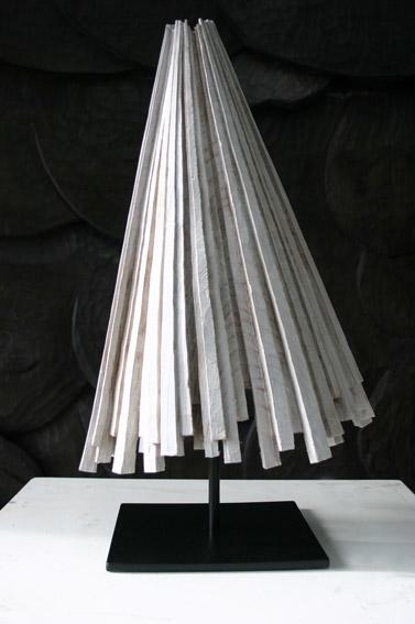The ideas man, 2007 painted elm 39 x 25 x 29cm