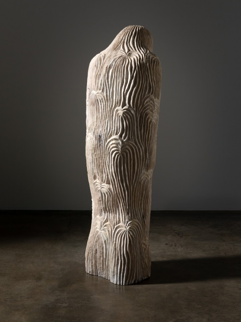 Magdalene Tree, 2018 painted wood (cypress) 162 x 52 x 40cm